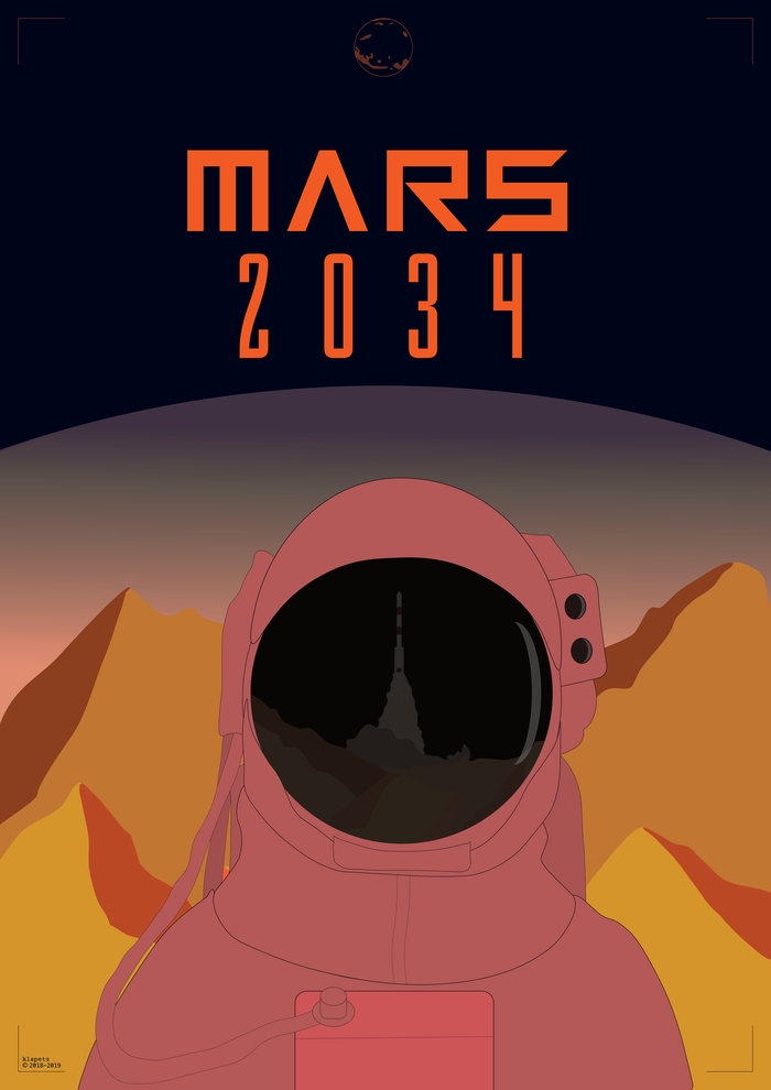 Poster-Design: Mars 2034
