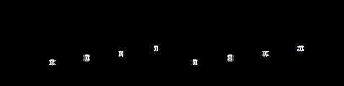 Die Leersaiten vom E- Bass als TAB und in Notenform aufgeschrieben