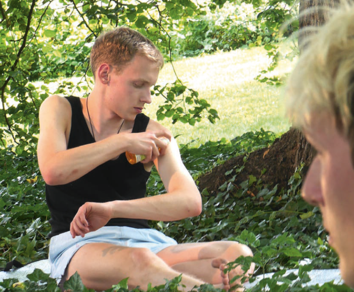 "Documentation ""Favourites"" performance at ""18 Stunden"" festival of HMDK Stuttgart Höhenpark Killesberg June 2015"