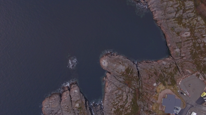 "Anne Pflug ""Clam Powder On Lofoten"" performance video 2018 drone operated by Jona Kleinlein"