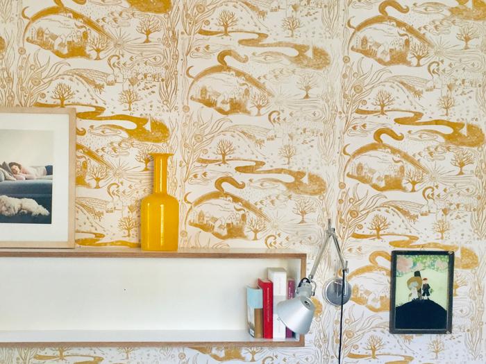 LANDSCAPE ist eine handgedruckte Tapete aus der Tapetenmanufaktur Print Garden. LANDSCAPE is a hand printed wallpaper