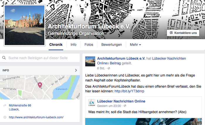 ArchitekturForum Lübeck e.V. auf Facebook