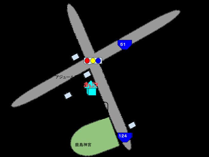 putting on[プティングオン]アクセスマップ 茨城県鹿嶋市宮中4643−10