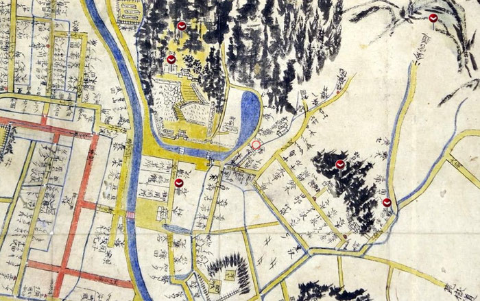 宮城県涌谷町の古地図をstrolyでGPS対応させたものです。
