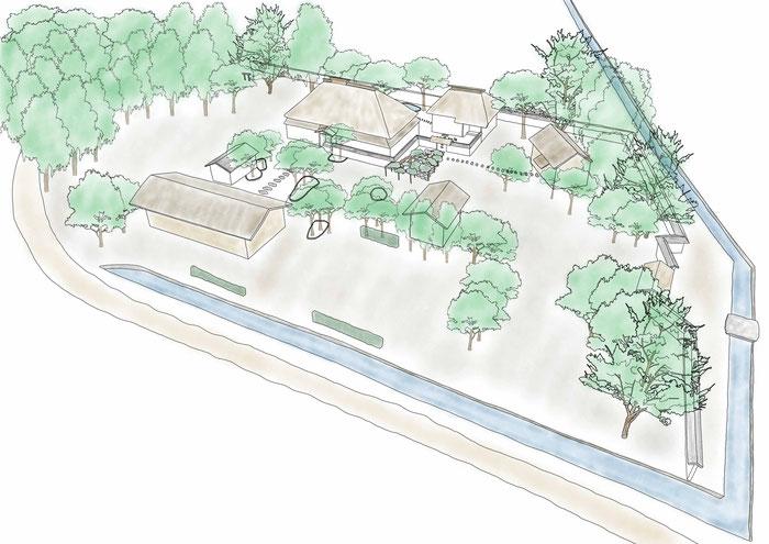 宮城県涌谷町指定文化財「旧佐々木家住宅」武家屋敷の屋敷構えを解説したものです。