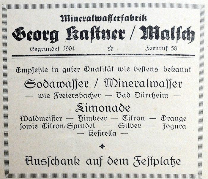 Anzeige von 1929