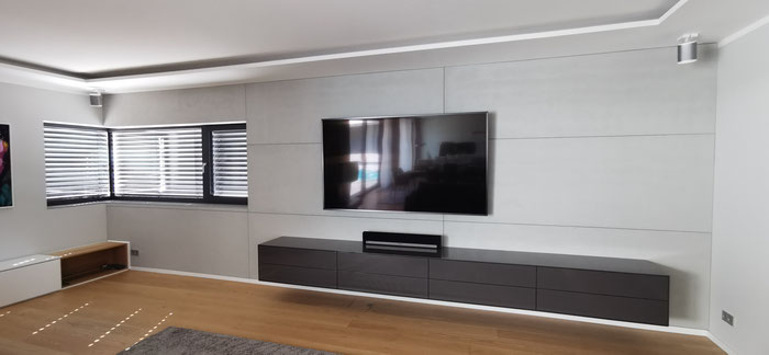 PANBETON Classic 200 Medium Pitted . TV Wand - Multimedia Wand Beton