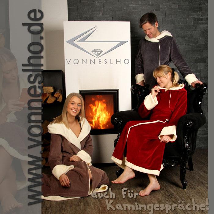 warmer langer Saunamantel extralanger Bademantel mit Kapuze luxus Wellnessmantel für Spa
