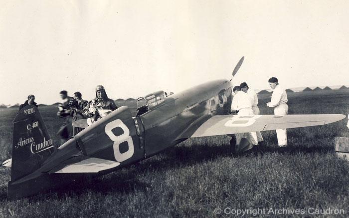 Raymond Delmotte et le Caudron Renault C.460
