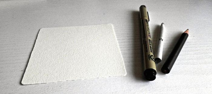 Zentangle Material - Tile, Papier, Faserschreiber, Schummerstift siehe Shop
