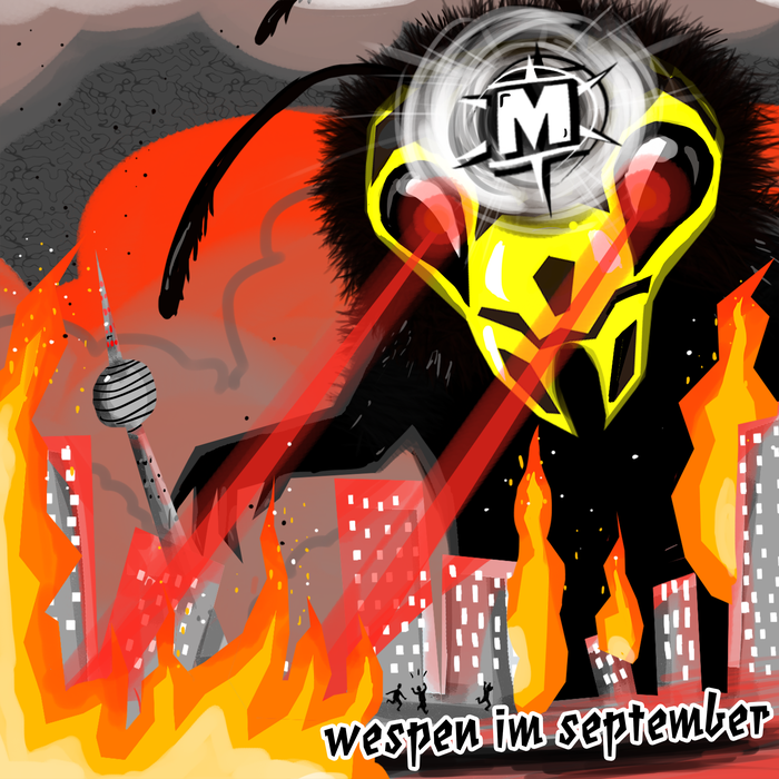 "Megamateur­­–Artwork zum Song ""Wespen im September"""
