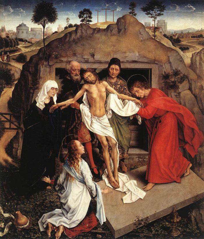 ファン・デル・ウェイデン《キリストの埋葬》,1460年