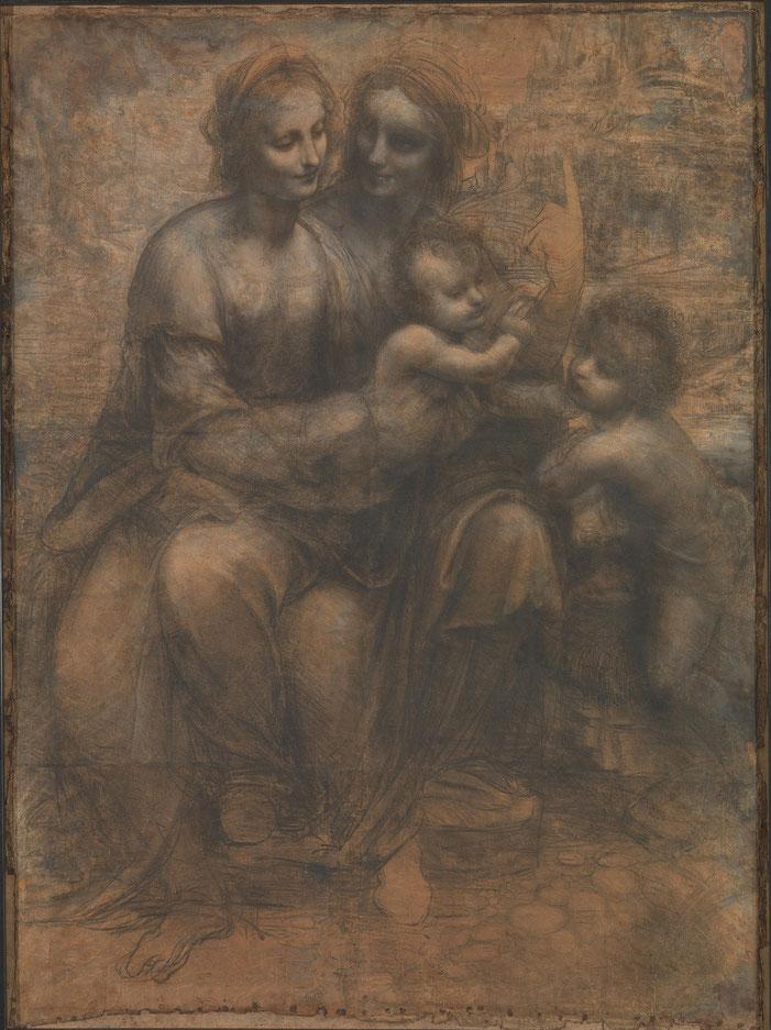 聖アンナと聖母子と幼児聖ヨハネ』(1498年) ナショナル・ギャラリー