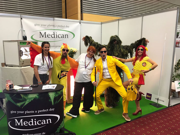 Captain Mittelstrahl at Medicans Cultiva booth E017 in Vienna, Austria