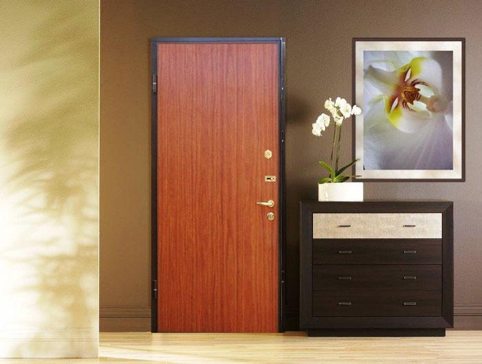 Металлические двери с отделкой ламинат.