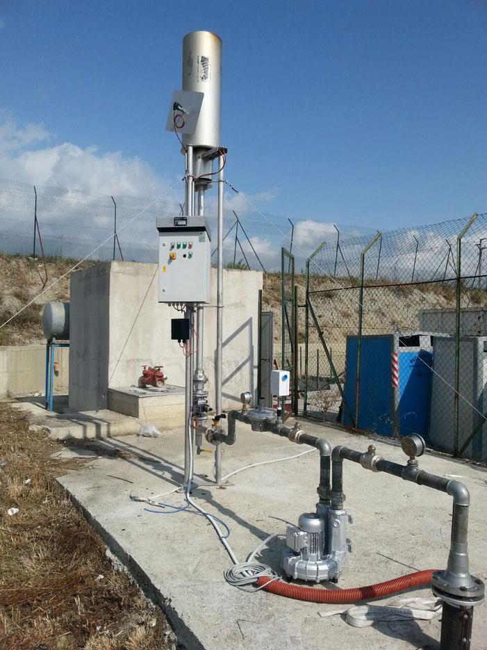 Antorchas para quemar biogas - quemador para biogás - combustión de biogas - mechero para biogas