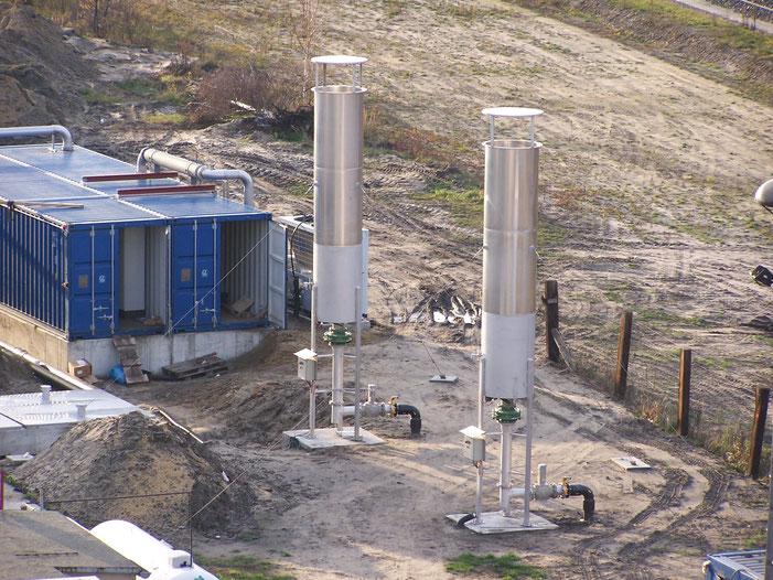 Antorcha para quemar biogas - quemador de biogas - mechero para biogas - biodigestores