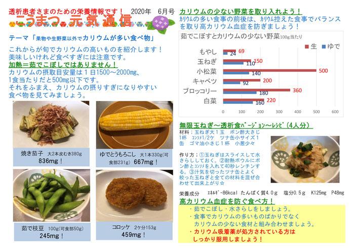 多い 食べ物 カリウム