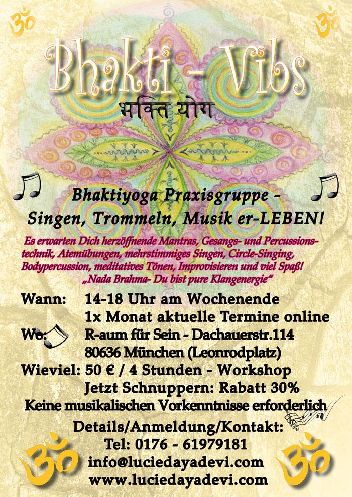 Bhakti - Vibs - by Lucie Daya Devi - Workshop zum Singen - Trommeln und Musik erleben