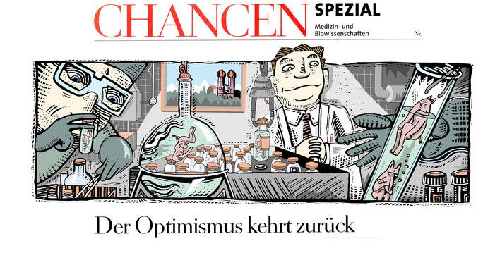"""Niels Schröder schuf diese Illustration für die Wochenzeitung """"Die Zeit""""."""