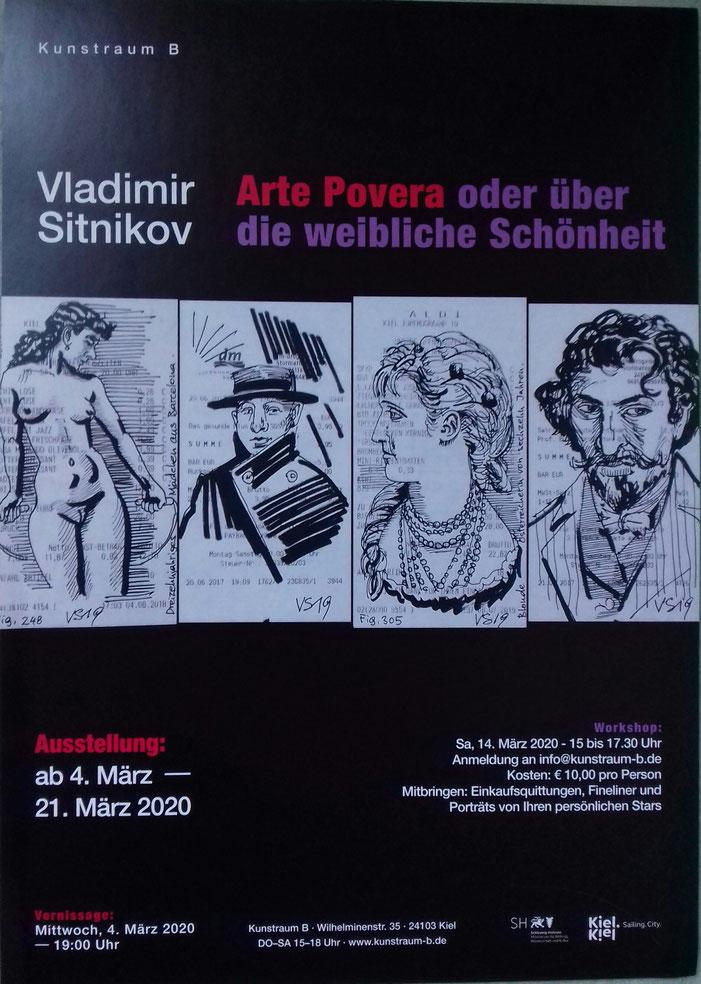 Vladimir Sitnikov ab 4. bis 21. März 2020 im Kunstraum B