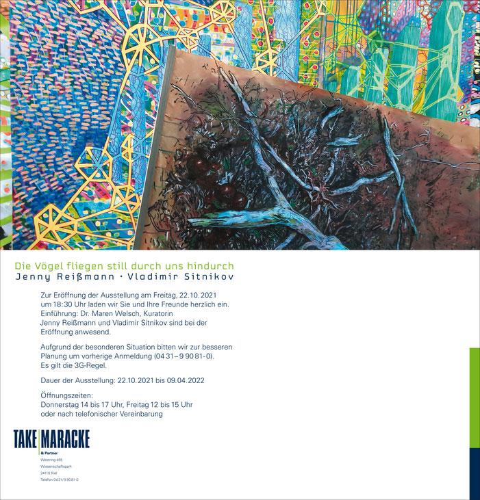 Eine Doppelausstellung bei TAKE&MARACKE Kiel