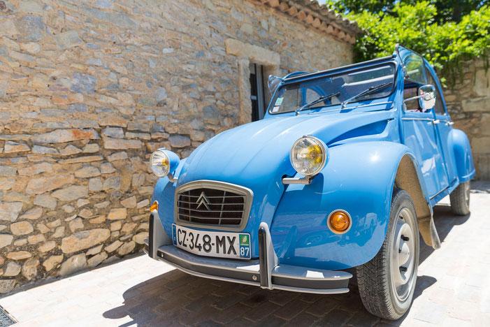Location de cabriolets vintage en Provence : Citroën 2CV