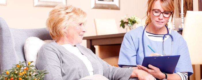 Grundpflege, Behandlungspflege, Verhinderungspflege