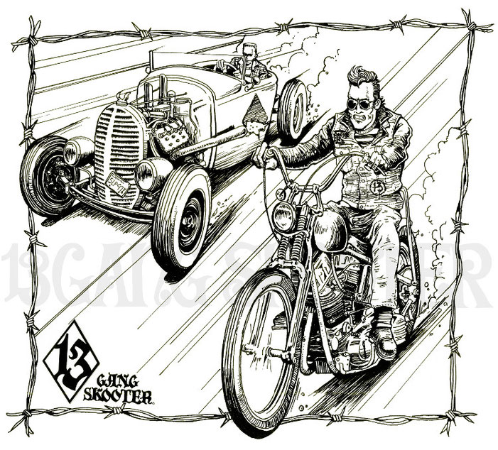 PanChopper.HotrodCar Artwork