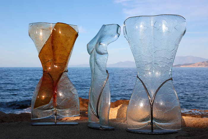 Buste en verre - Atelier Vetrarte