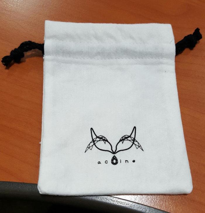 ベルベット 巾着 製作