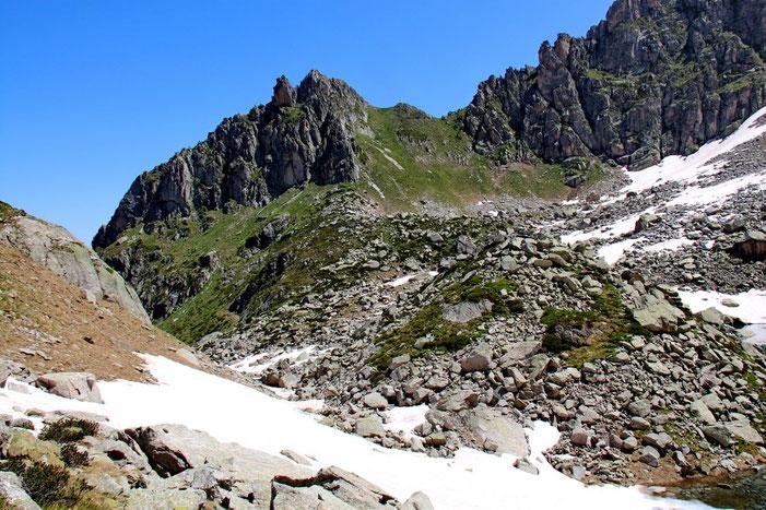 Le col des Gisletas (2366m).