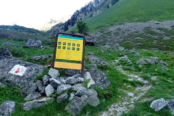 Entrée dans le Parc National des Pyrénées.