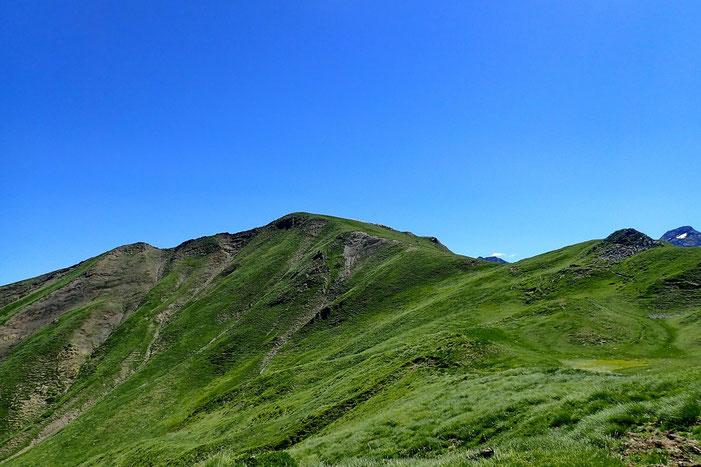 Du laquet, vue sur le Pic de Chérue.