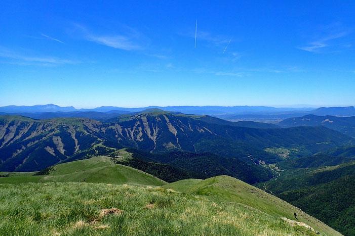 La crête vue du Pico de Toronzué (2263m).