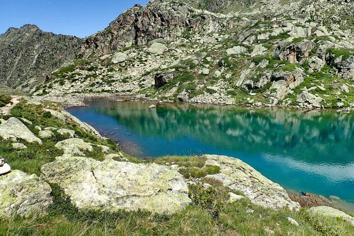Ce fond de lac va être idéal pour faire une petite pause.