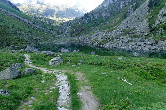 Le lac de Langle (1605m).