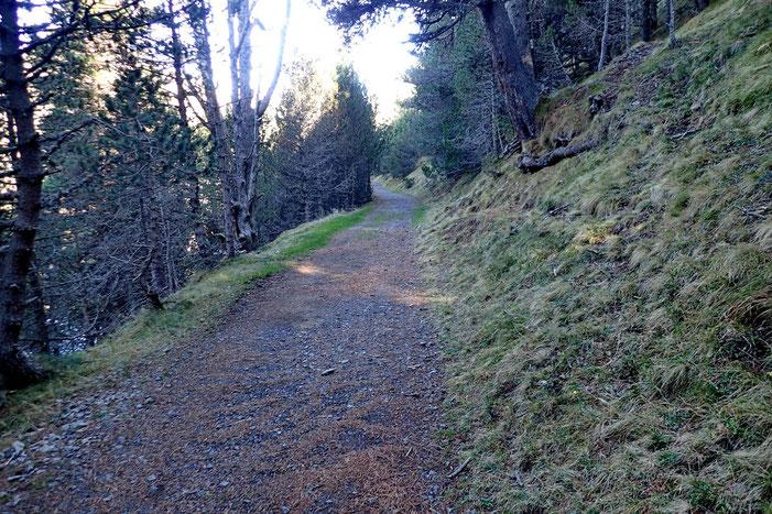 Le chemin au dessus du lac.