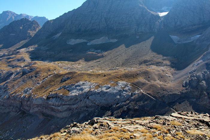 Les glaciers au pied du Tallion (3144m).