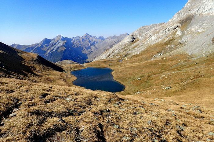 Pendant la montée, vue sur le Lac de Sautaro.