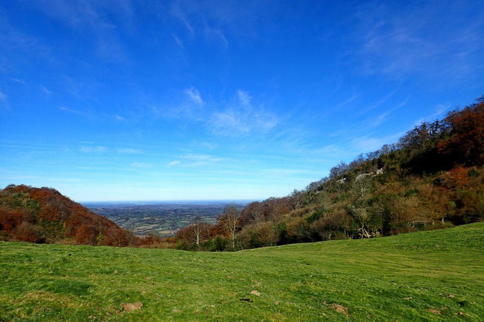 Du Col d'Arriulé (864m), panorama vers la plaine.