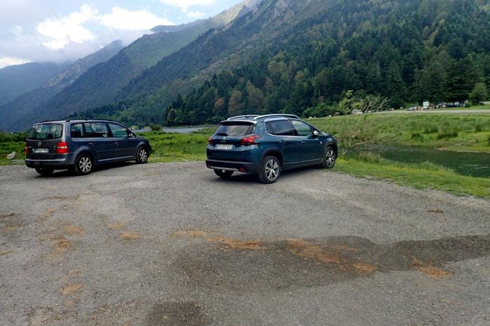 Retour au parking du lac d'Estaing.