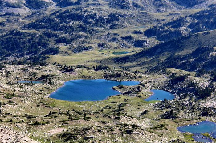 Zoom sur les lacs de Madamète.