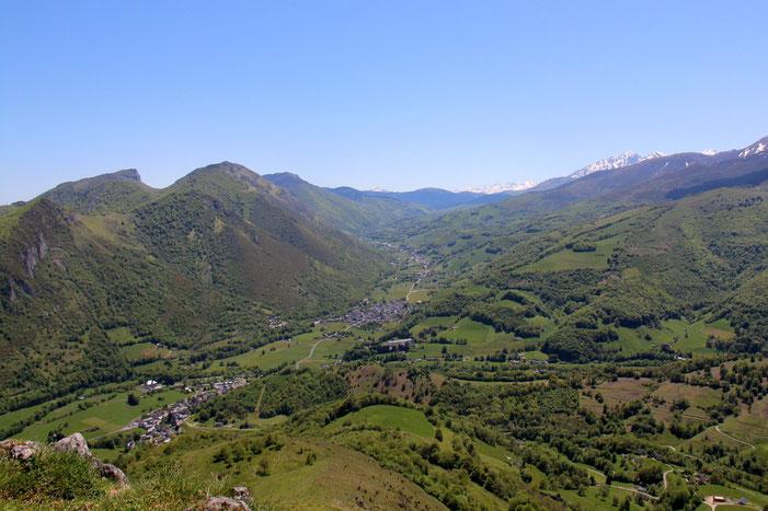 Du Petit Monné, vue sur la Vallée de Campan.