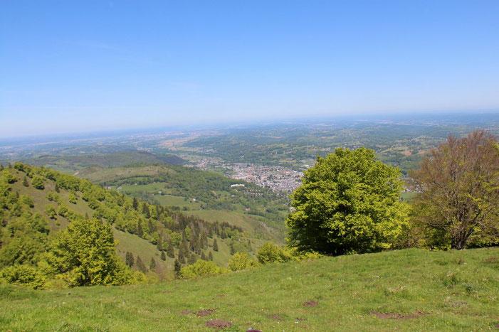 Toujours du Petit Monné, vue sur Bagnères-de-Bigorre.