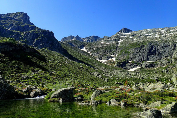 Les lacs de Liantran. Propices à une pause détente, contemplative, voire médidative...