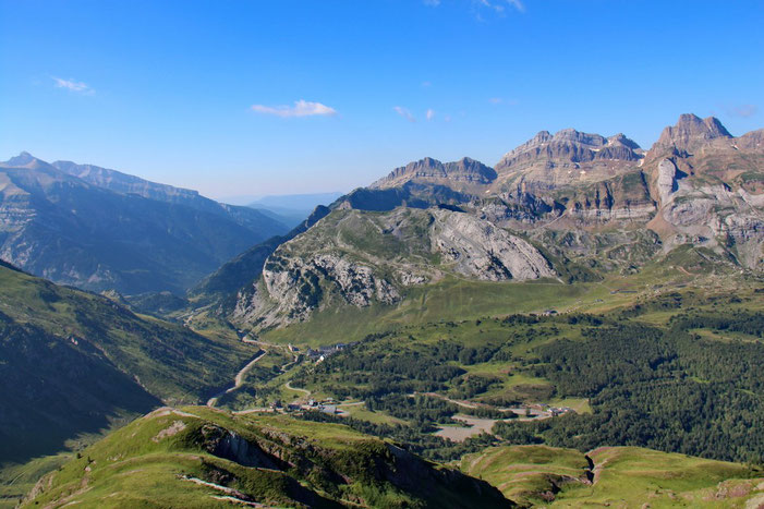 Panorama vers le col du Somport.