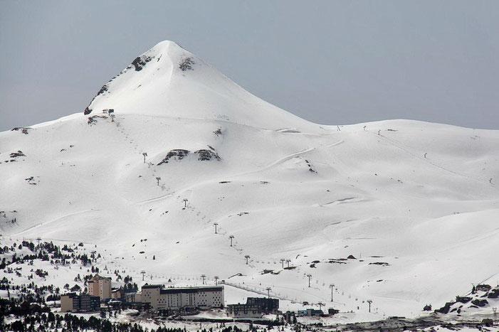 La station de ski est encore ouverte. Même s'il n'y a pas grand monde...