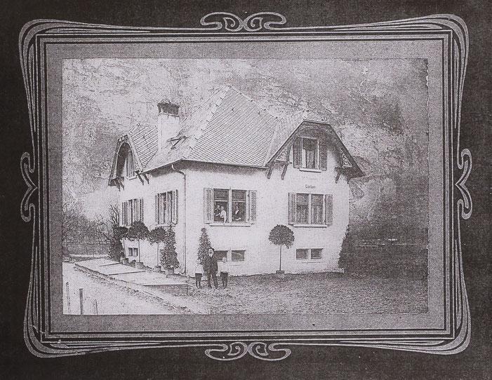 Wilhelm Leuzinger, 1915, Erbauer der Gärtnerei