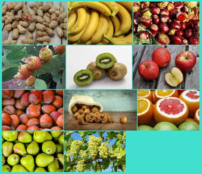 Frutta della stagione di ottobre